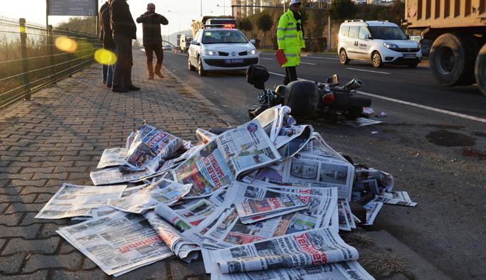 Ordu'da gazete dağıtıcısı ölümden döndü!