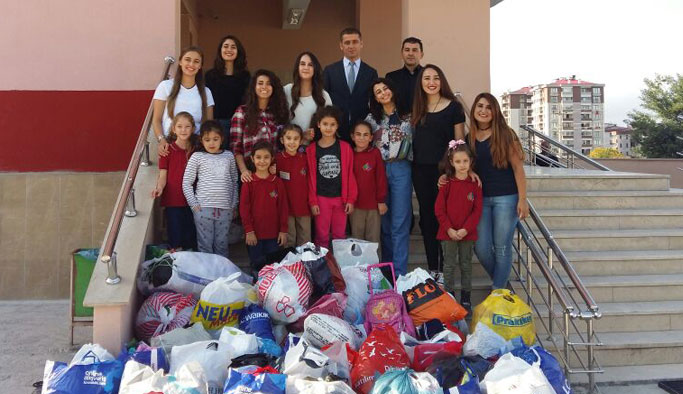 Trabzon'da yaşayan göçmenlere KTÜlü öğrencilerden yardım eli