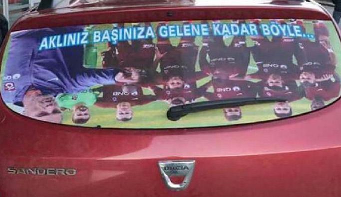 Trabzon'da taraftardan ilginç tepki!