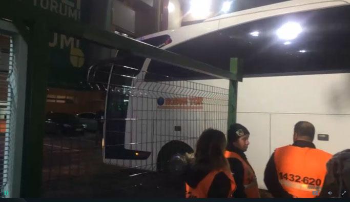 Trabzonspor ve Fenerbahçe kafilesi Avni Aker'de