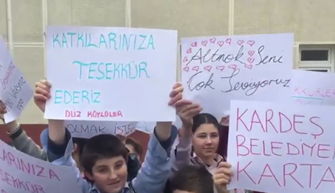 Trabzon Düzköy'e kardeş eli