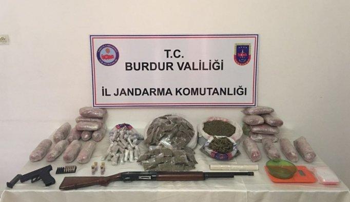 Burdur'da uyuşturucuya darbe