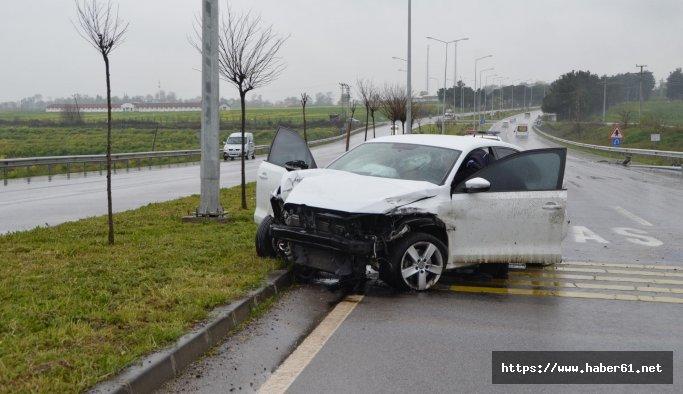 Samsun'da yağmur kazaya yol açtı: 3 yaralı
