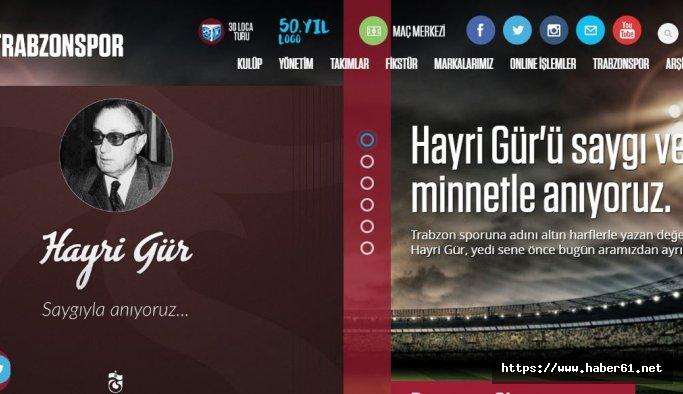 Trabzonspor Hayri Gür'ü unutmadı