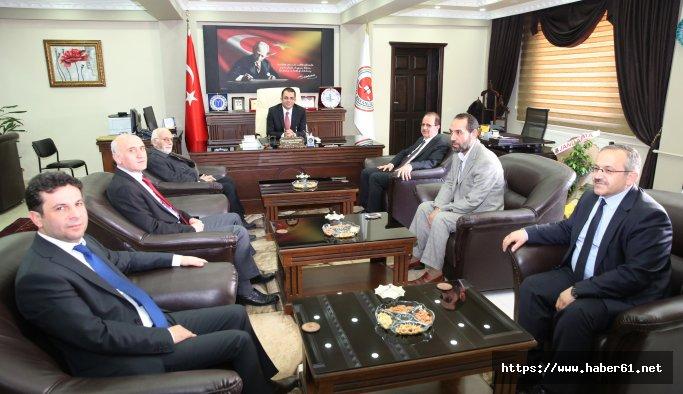BÜ rektörü Coşkun Başsavcı Tiryaki'yu ziyaret etti