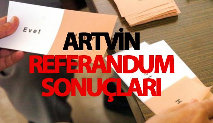 Artvin referandum sonuçları 2017 - Artvin seçim sonuçları