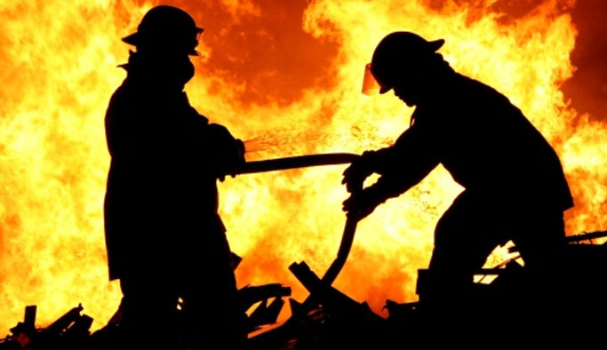 Karakolda yangın: 14 asker etkilendi