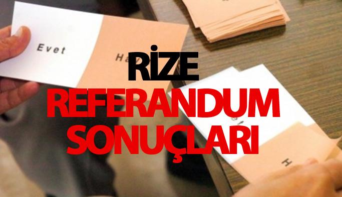 Rize referandum sonuçları 2017 - Rize seçim sonuçları