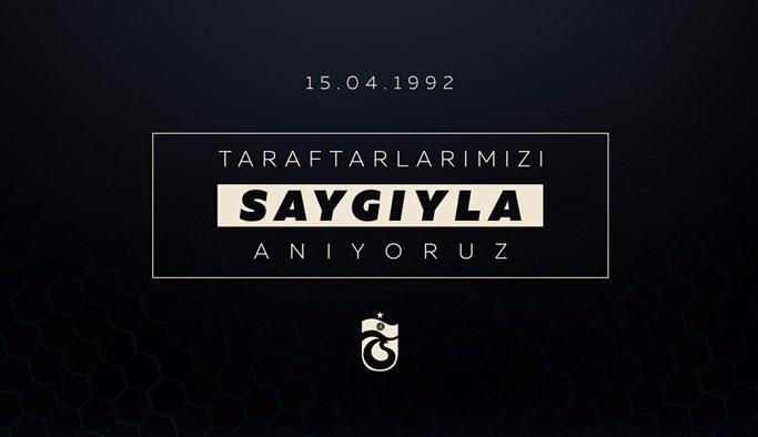 Trabzonspor o taraftarları unutmadı