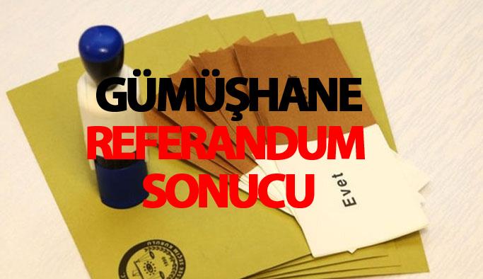 Gümüşhane referandum sonucu