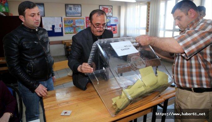 Rize'de oy sayım işlemi başladı