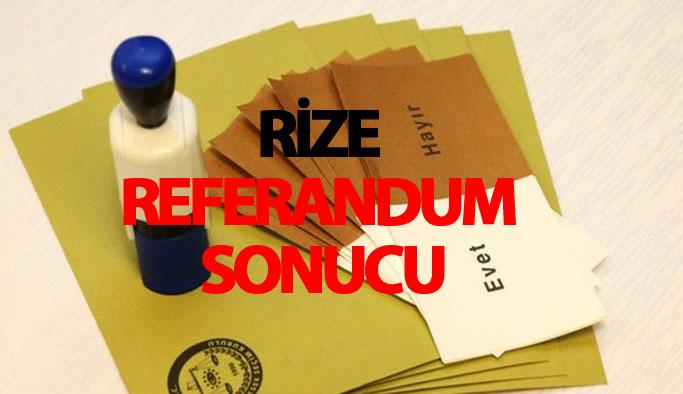 Rize referandum sonucu