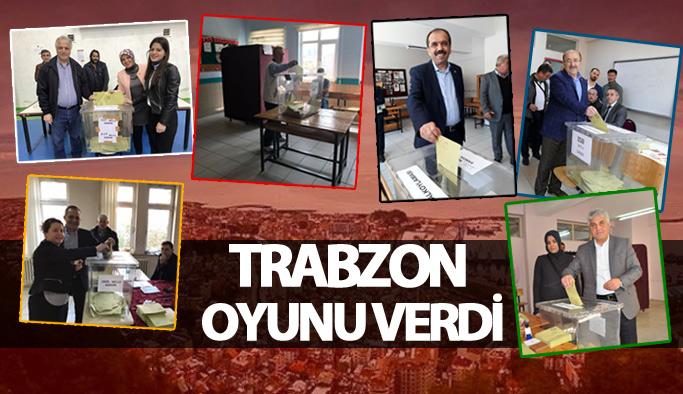 Trabzon oyunu kullandı