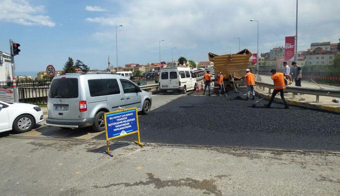 Trabzon'da 4 ilçede yollar onarılıyor