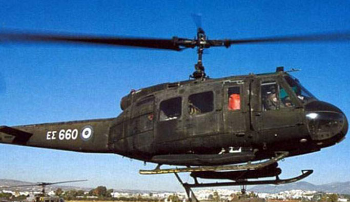 Yunan helikopteri kayboldu
