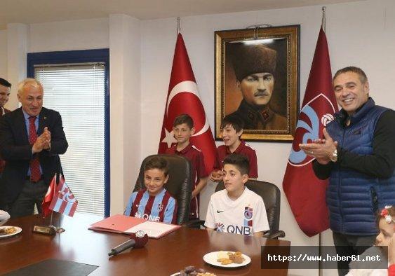 İşte Trabzonspor'un minik başkanı ve teknik direktörü