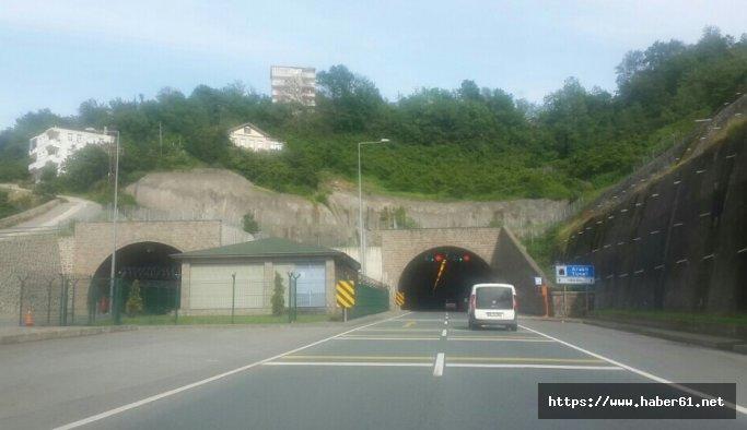 Araklı Tüneli'nde onarım!