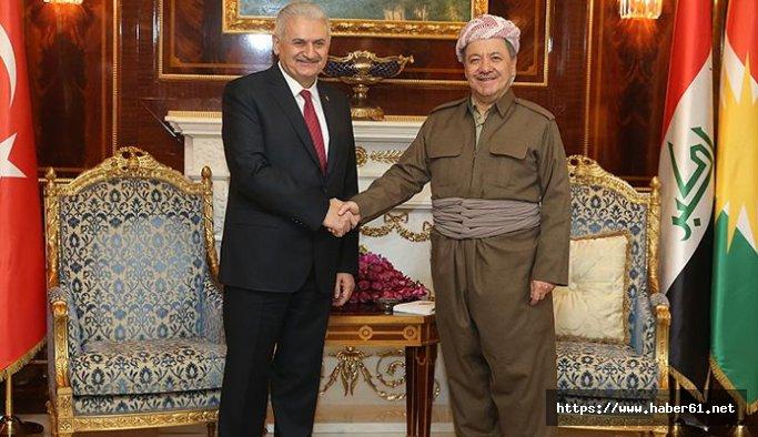 Başbakan'dan Barzani'ye başsağlığı telefonu