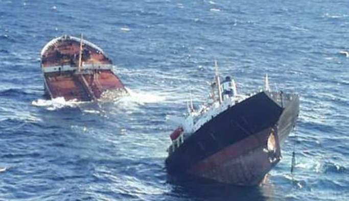Karadeniz'de gemiler çarpıştı!