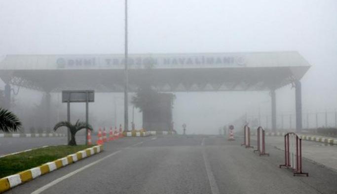 Trabzon'da hava ulaşımına sis engeli! Seferler iptal