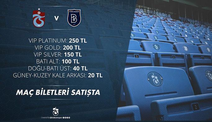 Trabzonspor'un Başakşehir maçı bilet fiyatları belli oldu
