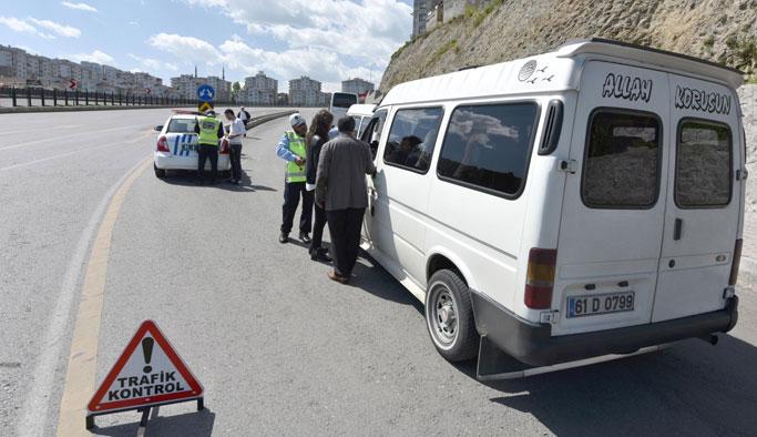 Trabzon'da Ticari taşıtlarda denetimler başladı