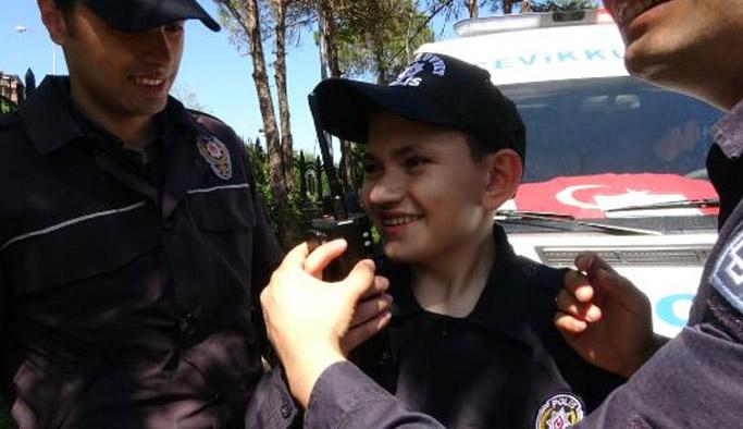 Rize'de engelli çocukların polislik sevinci