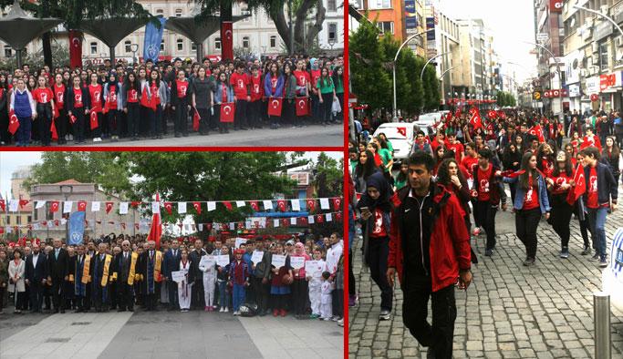 Trabzon'da Gençlik Yürüyüşü coşkusu