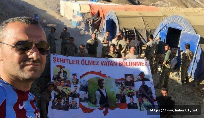 Karadenizli kamyoncudan Kato Dağı'nda Mehmetciğe köfte ziyafeti
