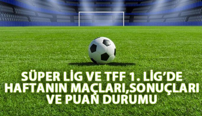 Süper Lig ve TFF 1. Lig'de haftanın maçları - Süper Lig puan durumu