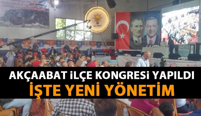 AK Parti Akçaabat 6. Olağan Kongresi gerçekleştirildi