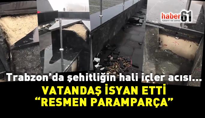 Trabzon'da Harmantepe Şehitliği'nin hali içler acısı...