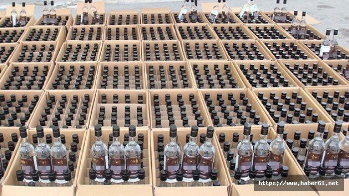 10 ton kaçak içkiye 1,1 milyonluk ceza