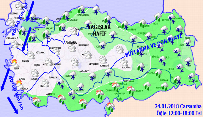 Trabzon'da hava nasıl olacak? 24.01.2018