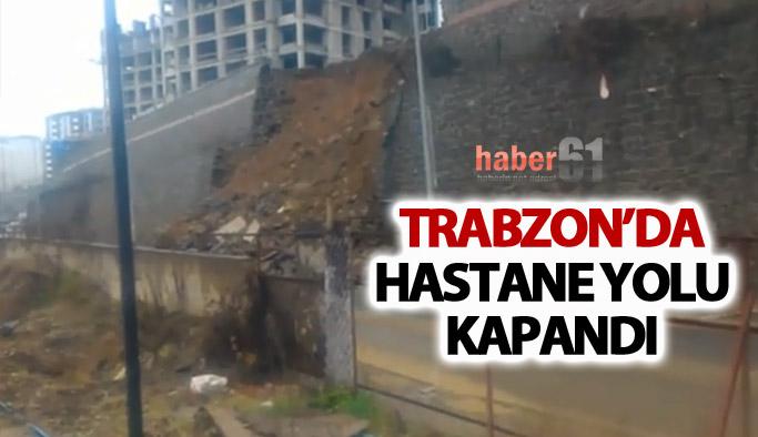Trabzon'da hastane yolu kapandı