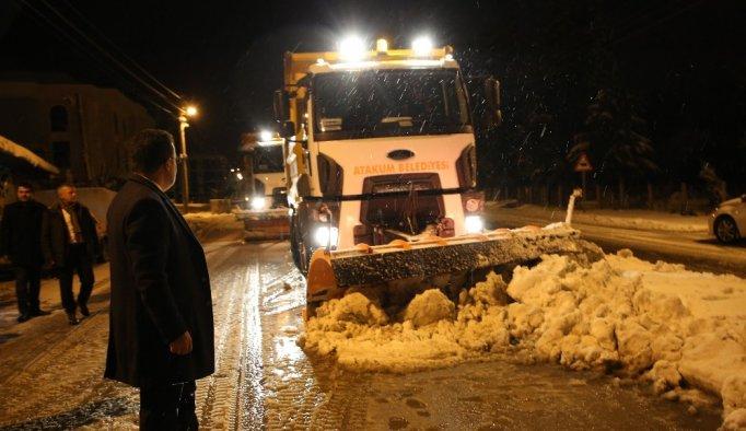 Atakum karla mücadele ediyor - Samsun haberleri