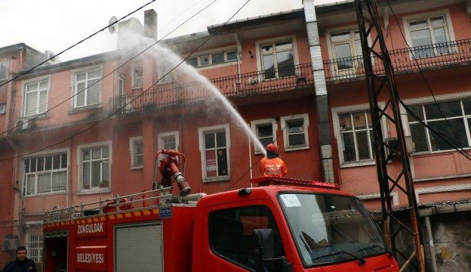 Yangın panik yarattı - Zonguldak haberleri