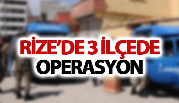 Rize'de 3 ilçede kaçakçılık operasyonu