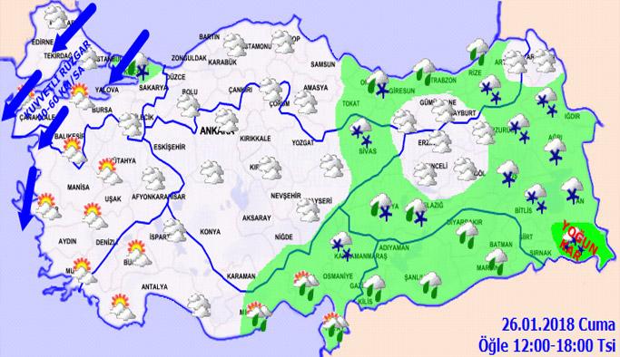 Trabzon'da hava nasıl olacak? 26.01.2018