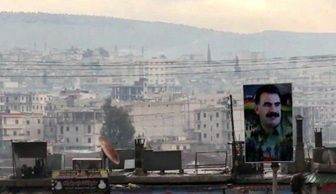 Afrin'de Öcalan posterleri dikkat çekti
