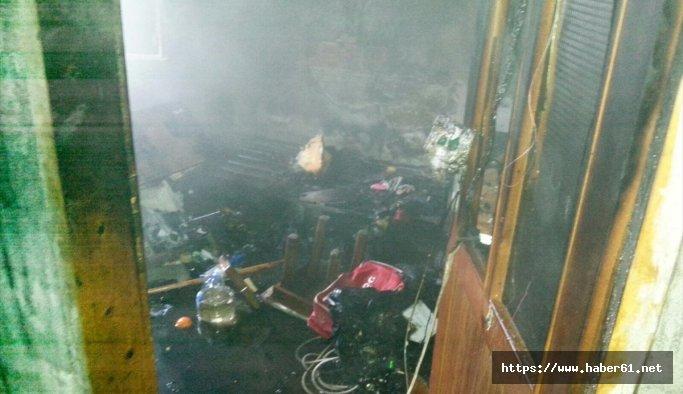 Giresun'da ev yangını: 1 yaralı