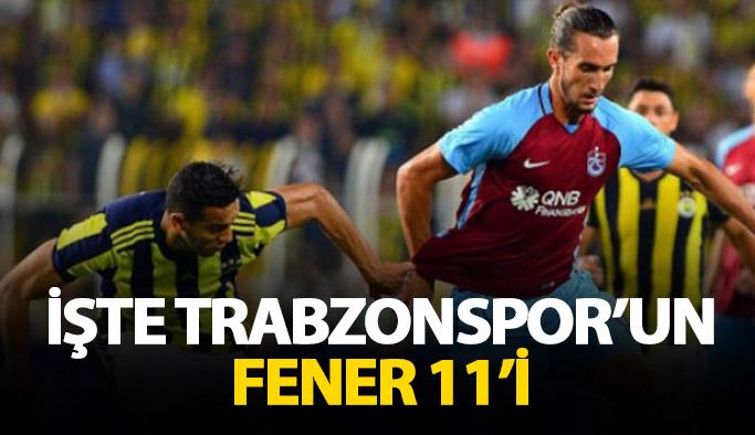 İşte Trabzonspor'un 11'i
