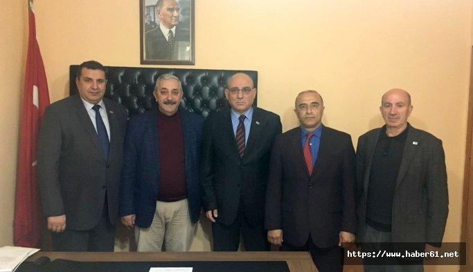 Başkan Kara'dan Sürmene, Of ve Çaykara'ya tebrik ziyareti