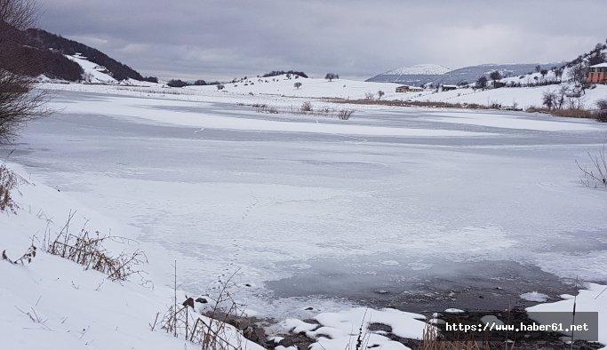 Doğa harikası Gölbel dondu - Samsun haberleri