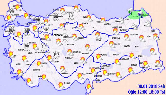 Trabzon'da hava nasıl olacak? 30.01.2018