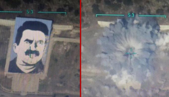Öcalan posteri havaya uçuruldu: Darmık'ta operasyon