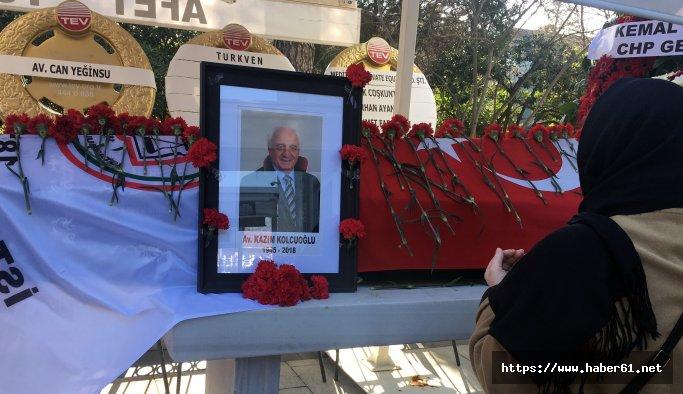 Eski İstanbul Barosu Başkanı Kazım Kolcuoğlu'na veda