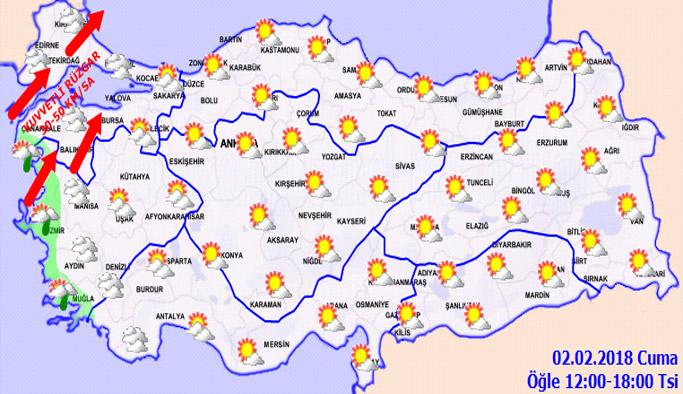 Trabzon'da hava nasıl olacak? 02.02.2018