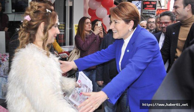 Meral Akşener, memleketinde esnafı ziyaret etti