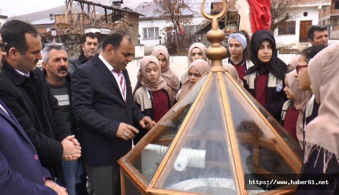 Bayburt'ta dikilen İffet Anıtı'na tur düzenlenmeye başlandı
